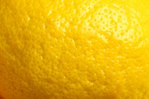 lemon fruit texture close up